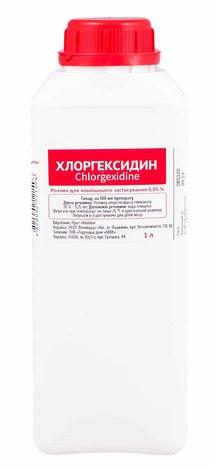 Хлоргексидин розчин зовнішній 0,05 % 1 л 1 флакон