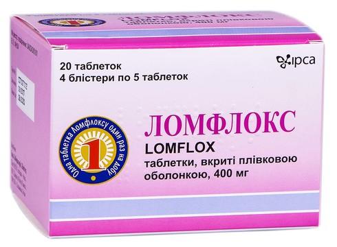 Ломфлокс таблетки 400 мг 20 шт