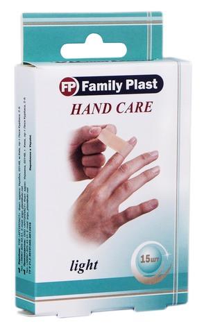 Family Plast Набір пластирів медичних бактерицидних Hand Care 15 шт