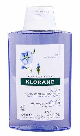 Klorane Шампунь для об'єму з волокнами льону для тонкого, ослабленого волосся 200 мл 1 флакон