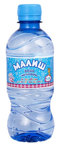Малиш Вода дитяча негазована 0,33 л 1 пляшка