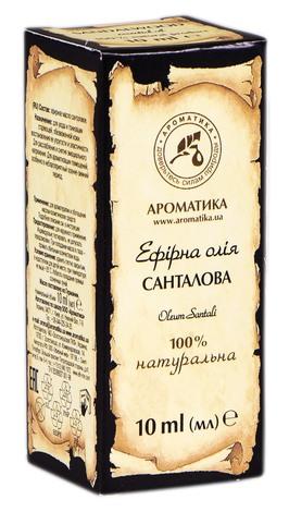 Ароматика Олія ефірна санталова 10 мл 1 флакон