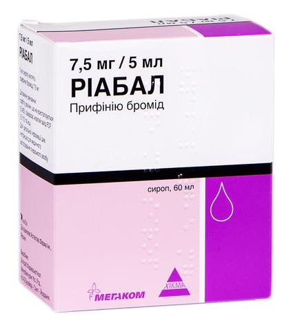 Ріабал сироп 7,5 мг/5 мл  60 мл 1 флакон