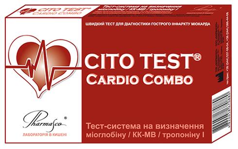 Pharmasco Cito Test Cardio Combo Тест-система на визначення міоглобіну /КК-МВ/тропоніну I 1 шт