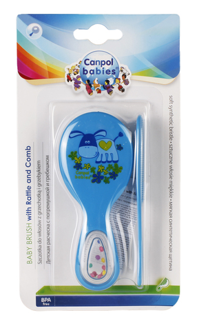 Canpol Babies Щітка для волосся з брязкальцем 56/156 2 шт