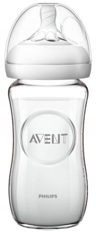 Philips Avent Natural Пляшечка для годування скляна від 1 місяця SCF673/17 240 мл 1 шт
