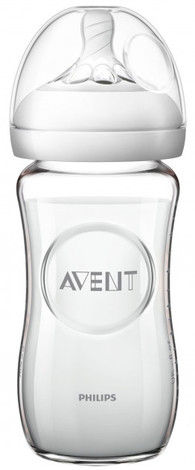 Avent Philips Natural Пляшечка для годування скляна від 1 місяця SCF053/17 240 мл 1 шт