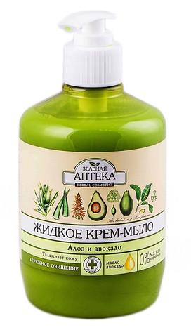 Зелена Аптека Мило рідке алоє і авокадо 460 мл 1 флакон