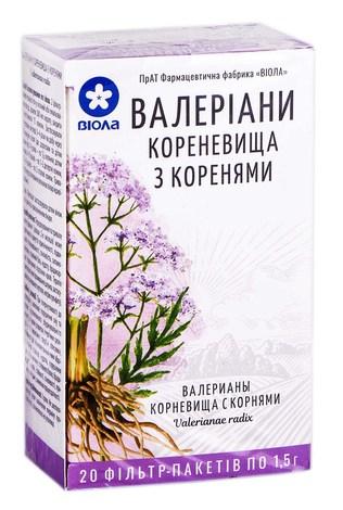 Валеріани  кореневища з коренями фільтр-пакет 1,5г н 20