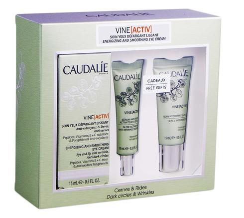 Caudalie Vine Activ крем для очей 15 мл + сироватка 10 мл + 3 в 1 засіб для обличчя 15 мл 1 набір