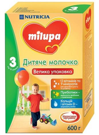 Milupa 3 Дитяче молочко від 12 місяців 600 г 1 коробка
