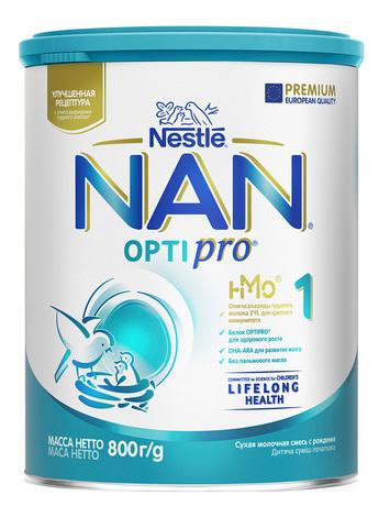 NAN 1 Optipro Суха дитяча молочна суміш для новонароджених 800 г 1 банка