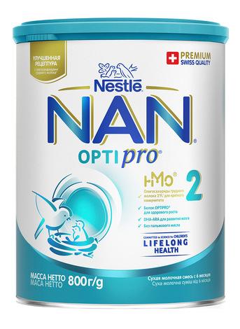 NAN 2 Optipro Суха дитяча молочна суміш від 6 місяців 800 г 1 банка