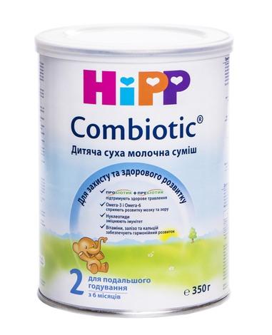 HiPP Combiotic 2 Дитяча суха молочна суміш з 6 місяців 350 г 1 банка