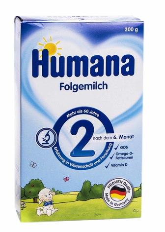 Humana 2 Молочна суміш з пребіотиками від 6 місяців 300 г 1 коробка