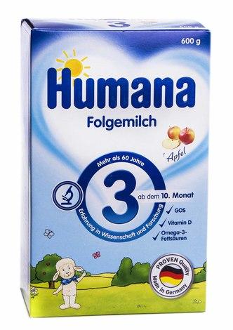 Humana 3 Молочна суміш від 10 місяців 600 г 1 коробка