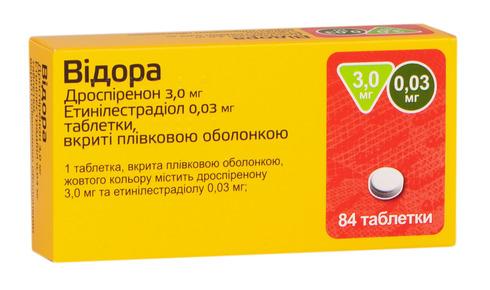 Відора таблетки 3 мг/0,03 мг  84 шт