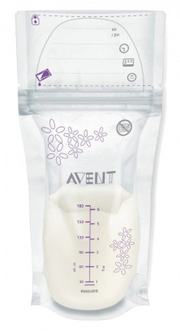 Avent Philips Пакети для зберігання грудного молока 180 мл SCF603/25 25 шт