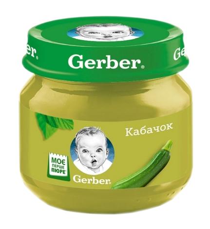 Gerber Пюре Кабачок  з 6 місяців 80 г 1 банка