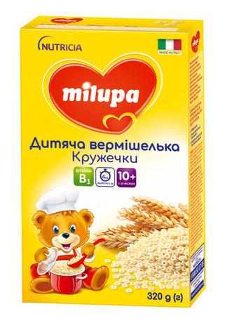 Milupa Вермішелька дитяча Кружечки для дітей від 10 місяців 320 г 1 коробка