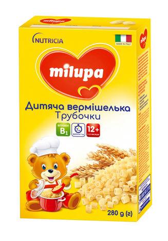 Milupa Вермішелька дитяча Трубочки для дітей від 12 місяців 280 г 1 коробка