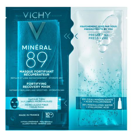 Vichy Mineral 89 Маска зміцнююча тканинна для зволоження та відновлення шкіри обличчя 29 г 1 пакет
