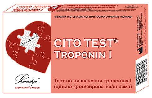 Pharmasco Cito Test Тест на визначення тропоніну І 1 шт