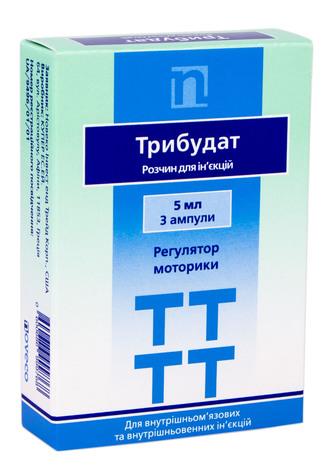 Трибудат розчин для ін'єкцій 50 мг 5 мл 3 ампули