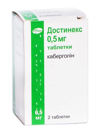 Достинекс таблетки 0,5 мг 2 шт