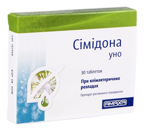 Сімідона уно таблетки 6,5 мг 30 шт