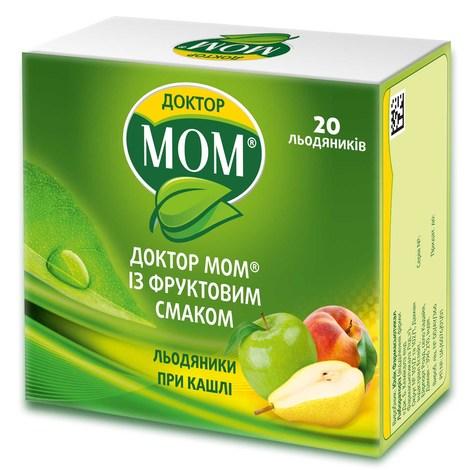 Доктор Мом із фруктовим смаком льодяники 20 шт