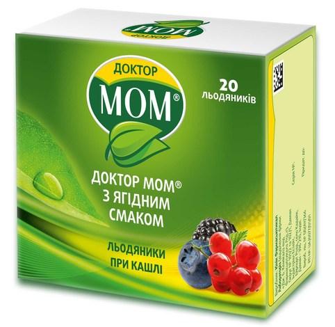 Доктор Мом з ягідним смаком льодяники 20 шт