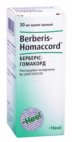 Берберіс-гомакорд краплі оральні 30 мл 1 флакон