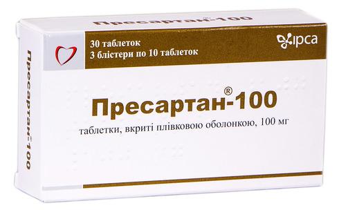 Пресартан 100 таблетки 100 мг 30 шт