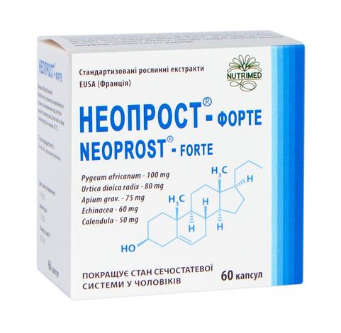 Неопрост-Форте капсули 400 мг 60 шт