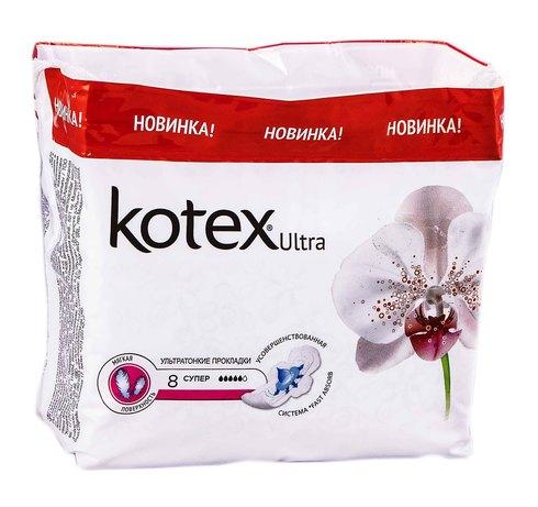 Kotex Ultra Soft Супер Прокладки гігієнічні 8 шт