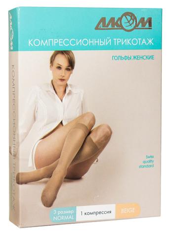 Алком 5011 Гольфи жіночі компресія 1 розмір 3 бежевий 1 пара