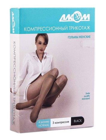 Алком 5013 Гольфи жіночі компресія 3 розмір 4 чорний 1 пара