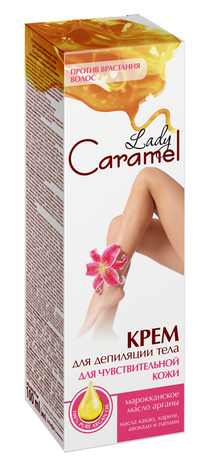 Lady Caramel Крем для депіляції тіла для чутливої шкіри 100 мл 1 туба