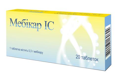 Мебікар IC таблетки 0,3 г 20 шт