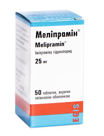Меліпрамін таблетки 25 мг 50 шт