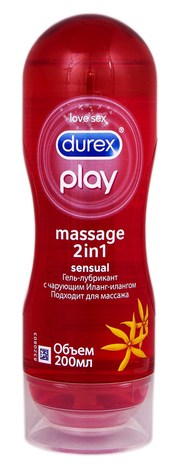 Durex Інтимна гель-змазка Play Massage 2 in 1 Sensual 200 мл 1 флакон