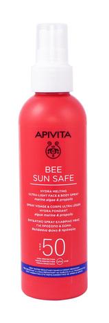 Apivita Bee Sun Safe Сонцезахисний спрей для обличчя і тіла SPF50 200 мл 1 флакон