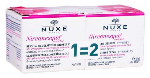 Nuxe Nirvanesque Крем насичений проти перших мімічних зморшок Дуо 2х50 мл 1 набір