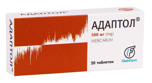 Адаптол таблетки 500 мг 20 шт