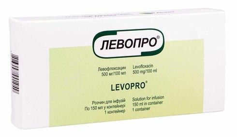 Левопро розчин для інфузій 500 мг/100 мл  150 мл 1 флакон