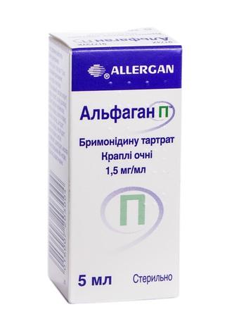Альфаган П краплі очні 1,5 мг/мл 5 мл 1 флакон