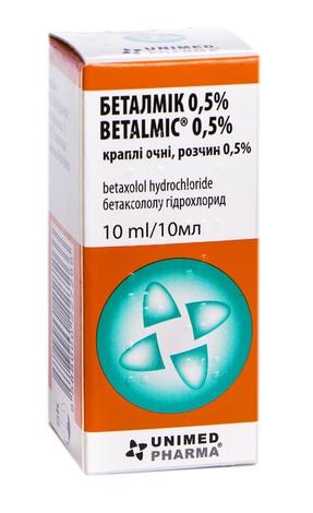 Беталмік 0,5% краплі очні 0,5 % 10 мл 1 флакон