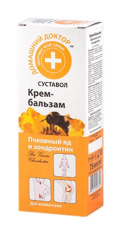 Домашній Доктор Крем-бальзам бджолина отрута з хондроїтином 75 мл 1 туба