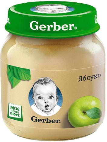 Gerber Пюре Яблуко з 6 місяців 130 г 1 банка